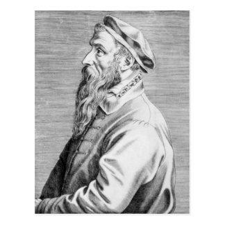 Retrato de Pieter Brueghel la anciano Postal
