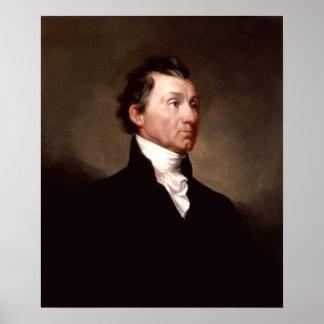 Retrato de presidente James Monroe Póster