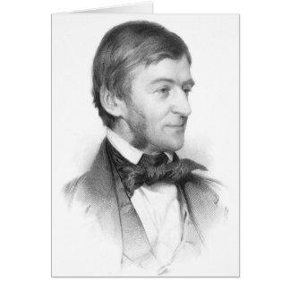 Retrato de Ralph Waldo Emerson Tarjeton