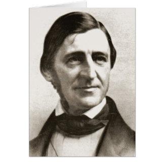 Retrato de Ralph Waldo Emerson Felicitaciones
