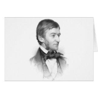 Retrato de Ralph Waldo Emerson Tarjeta