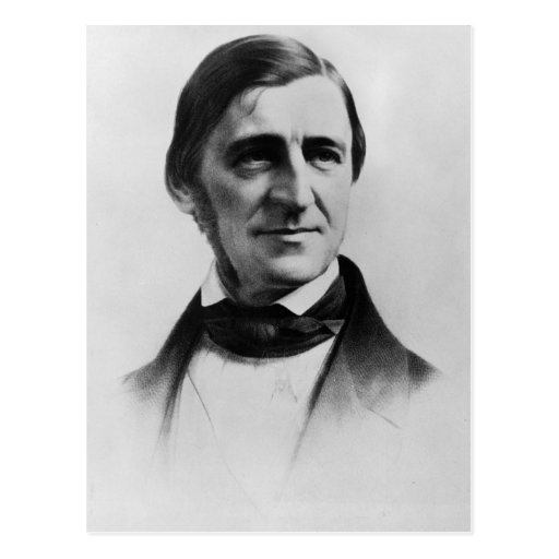 Retrato de Ralph Waldo Emerson Postales