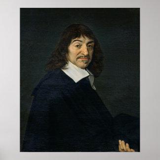 Retrato de Rene Descartes c.1649 Póster