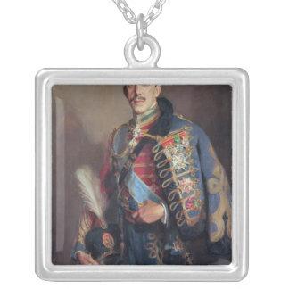 Retrato de rey Alfonso XIII de España, 1927 Collar Plateado