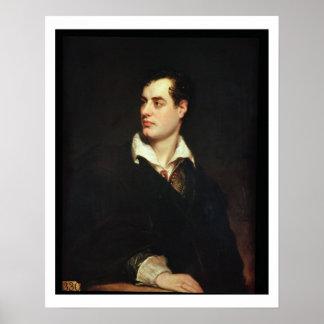 Retrato de señor Byron (1788-1824) (aceite en lona Póster