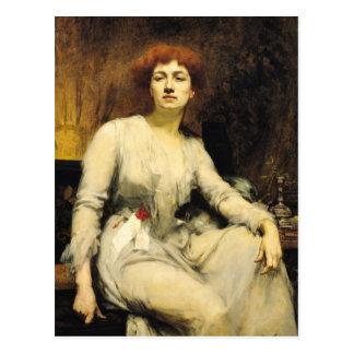 Retrato de Severine 1893 Postal