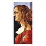 Retrato de Simonetta Vespucci de Botticelli Sandr Plantilla De Lona