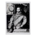 Retrato de sir Francis Drake Posters