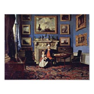 Retrato de sir Lorenzo Dundas y su nieto, Invitación 10,8 X 13,9 Cm