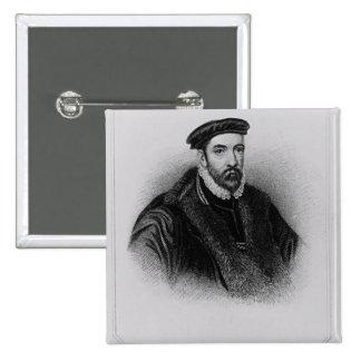 Retrato de sir Nicholas Bacon Chapa Cuadrada 5 Cm