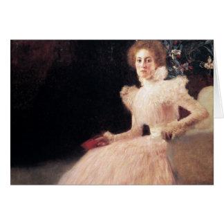 Retrato de Sonja Knips; Pintura de Gustavo Klimt Tarjeta