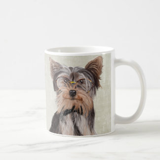 Retrato de Sr. Yorkshire Terrier Taza De Café