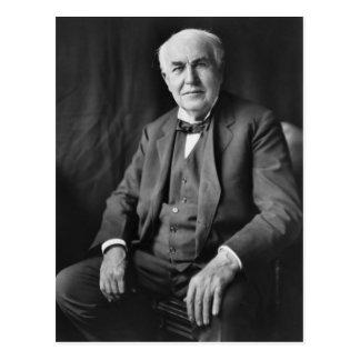 Retrato de Thomas Alva Edison Postal