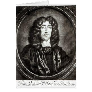 Retrato de Titus Oates grabado por R. Thompson Tarjeta De Felicitación