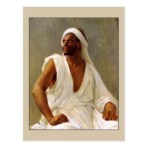 Retrato de un árabe por Cabanel Tarjeta Postal