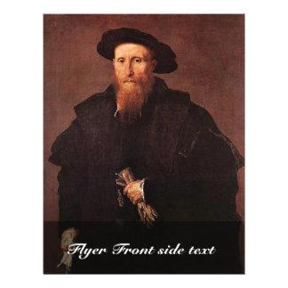 Retrato de un caballero con los guantes por la lot folleto 21,6 x 28 cm