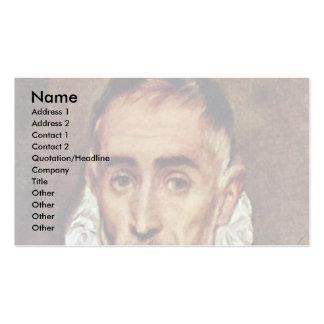 Retrato de un caballero por el EL de Greco Plantillas De Tarjeta De Negocio