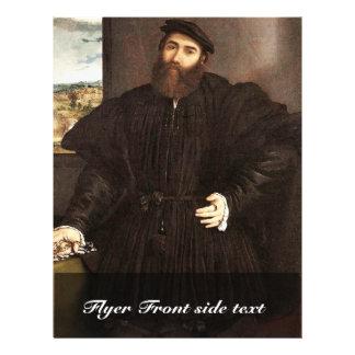 Retrato de un caballero por la loteria Lorenzo (el Folleto 21,6 X 28 Cm
