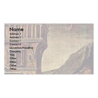 Retrato de un detalle del hombre joven tarjeta de negocio