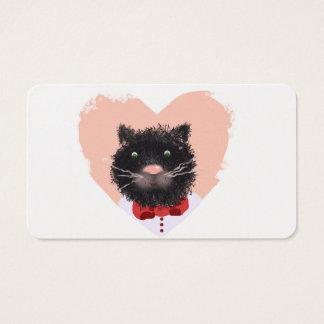 Retrato de un gato tarjeta de negocios