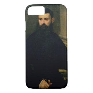 Retrato de un hombre (aceite en lona) 2 funda iPhone 7