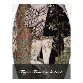 Retrato de un hombre joven con los rosas ovales po tarjeta publicitaria