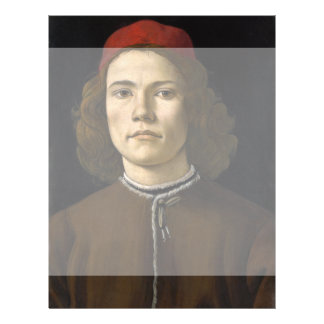 Retrato de un hombre joven por Botticelli Folleto 21,6 X 28 Cm