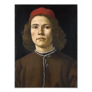 Retrato de un hombre joven por Botticelli Fotografías