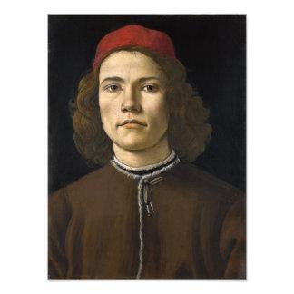 Retrato de un hombre joven por Botticelli Impresiones Fotográficas