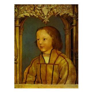 Retrato de un muchacho con el pelo rubio de Hans Postal