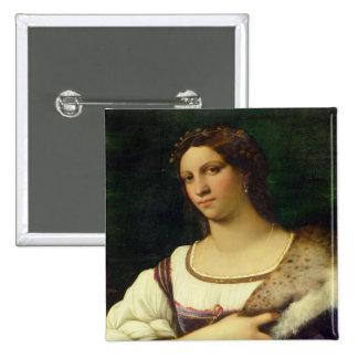 Retrato de una mujer, 1512 (aceite en lona) chapa cuadrada 5 cm