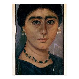 Retrato de una mujer, de Fayum, 1ro-4to siglo Postal