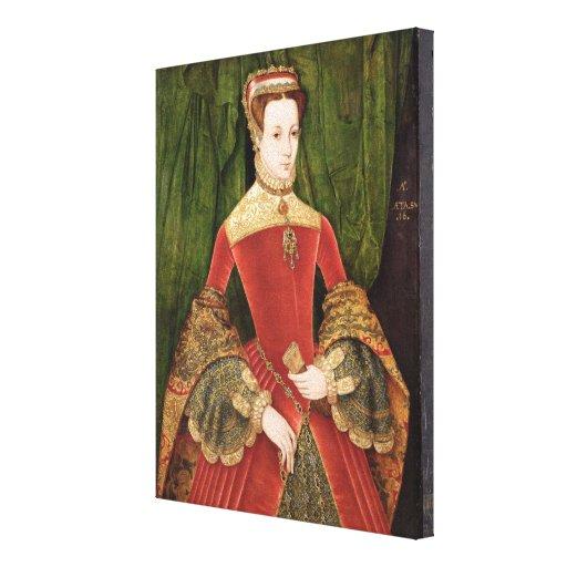 Retrato de una mujer, envejecido 16, previamente i impresión en lona