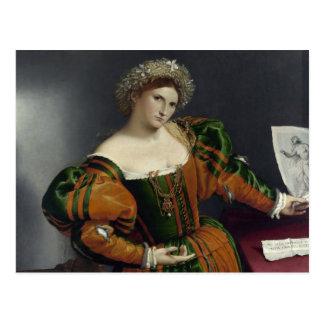 Retrato de una mujer inspirada por la postal de