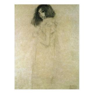 Retrato de una mujer joven, 1896-97 postal