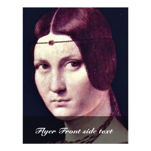 Retrato de una mujer joven (belleza Ferronière del Flyer A Todo Color