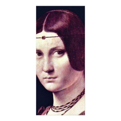 Retrato de una mujer joven (belleza Ferronière del Plantillas De Lonas