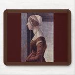 Retrato de una mujer joven de Botticelli Sandro Alfombrilla De Ratón