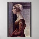 Retrato de una mujer joven de Botticelli Sandro Poster