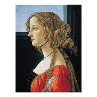 Retrato de una mujer joven por Botticelli, grande Impresiones Fotograficas