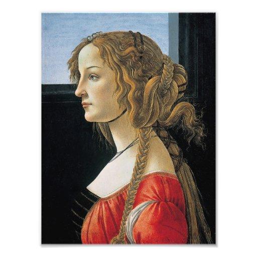 Retrato de una mujer joven por Botticelli Fotos