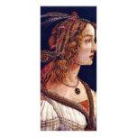 Retrato de una mujer joven (Simonetta Vespuci?) Lona Personalizada