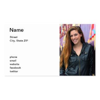 Retrato de una mujer joven tarjetas de visita