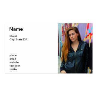 Retrato de una mujer joven tarjeta de visita