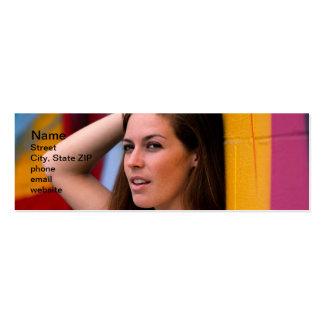 Retrato de una mujer tarjetas de visita mini