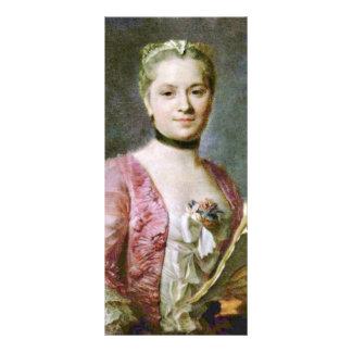 Retrato de una señora By Maurice Quentin de La Tou Tarjetas Publicitarias