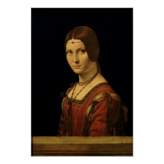 Retrato de una señora de la corte de Milano Poster