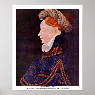 Retrato de una señora poster