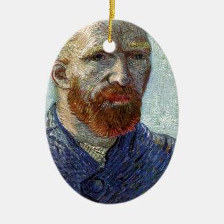 Retrato de uno mismo de Van Gogh Adorno De Cerámica