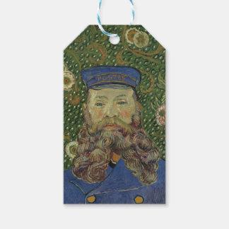 Retrato de Van Gogh el   del cartero José Roulin Etiquetas Para Regalos